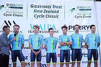 Team Bridgelane (Australia). 2019 Grassroots Trust NZ Cycle Classic UCI 2.2 Tour at St Peter's School in Cambridge, New Zealand on Tuesday, 22 January 2019. Photo: Dave Lintott / lintottphoto.co.nz