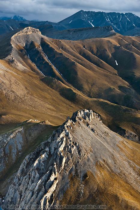 Aerial of the Davidson Mountains of the Brooks Range, Arctic National Wildlife Refuge, Alaska.