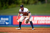 Canisius College Golden Griffins first baseman Ryan Stekl (15) during the second game of a doubleheader against the Michigan Wolverines on February 20, 2016 at Tradition Field in St. Lucie, Florida.  Michigan defeated Canisius 3-0.  (Mike Janes/Four Seam Images)