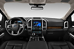 Stock photo of straight dashboard view of 2020 Ford F-150 Lariat 4 Door Pick-up Dashboard