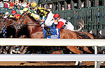 LEXINGTON, KY - OCTOBER 07:  #1 Fun and jockey Brian Hernandez Jr. before finishing 3rd in the 65th running of the Darley Alcibiades (Grade 1) $400,000 win and you're in Breeder's Cup Juvenile Fillies Division.  Keeneland Race Course.  October 7, 2016, Lexington, Kentucky. (Photo by Candice Chavez/Eclipse Sportswire/Getty Images)