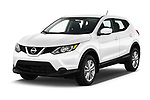 2017 Nissan Rogue Sport S 5 Door SUV angular front stock photos of front three quarter view