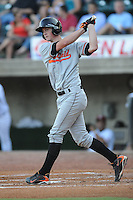 Bluefield Orioles Michael Ohlman at Pioneer Park in Greenville, Tennessee July 19, 2010.   Greenville won the game 7-6.  Photo By Tony Farlow/Four Seam Images
