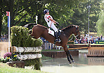Mary King and Imperial Cavalier of the Great Britain compete in the cross country phase of the FEI  World Eventing Championship at the Alltech World Equestrian Games in Lexington, Kentucky.