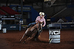Dena Miller during the second round of barrel qualifiers at the WCRA Stampede at the E. Photo by Andy Watson
