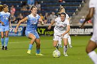 Chicago, IL - Wednesday Sept. 07, 2016: Katie Naughton, Heather O'Reilly during a regular season National Women's Soccer League (NWSL) match between the Chicago Red Stars and FC Kansas City at Toyota Park.
