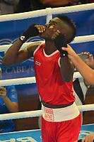 BARRANQUILLA - COLOMBIA, 25-07-2018: MARTINEZ RIVAS Yuberjen H. (Colombia) ganador frente a COLLAZO Oscar M (Puerto Rico) durante su participación en boxeo masculino categoría minimosca como parte de los Juegos Centroamericanos y del Caribe Barranquilla 2018. /  Yuberjen H. (Colombia) winner  after facing COLLAZO Oscar M (Puerto Rico) during his participation in the boxing men's light fly category of the Central American and Caribbean Sports Games Barranquilla 2018. Photo: VizzorImage / Alfonso Cervantes / Cont