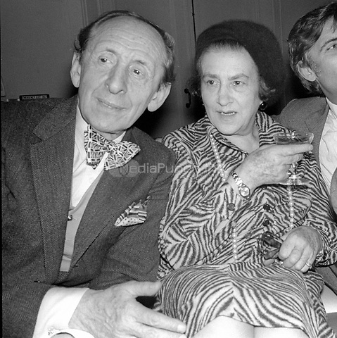 1978 <br /> New York City<br /> Vladimir Horowitz & wife at Studio 54<br /> Credit: Adam Scull-PHOTOlink/MediaPunch