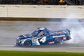 NASCAR Camping World Truck Series<br /> TheHouse.com 225<br /> Chicagoland Speedway, Joliet, IL USA<br /> Friday 15 September 2017<br /> Christopher Bell, SiriusXm Toyota Tundra celebrates his regular season win with a burnout <br /> World Copyright: Russell LaBounty<br /> LAT Images