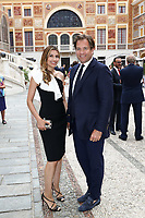 57th Monte-Carlo Television Festival cocktail at the Palace of Monaco. Michael Weatherly and Bojana Jankovic.