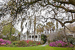 The Plantation House / Drayton family home at Magnolia Plantation and Gardens in  Charleston, South Carolina, USA