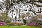 The Plantation House / Drayton family home at Magnolia Plantation and Gardens in  Charleston, South Carolina, USA