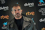 Antonio Banderas attends 35th Goya Awards press conference at Cinema Academy on February 02, 2020 in Madrid, Spain.(AlterPhotos/ItahisaHernandez)
