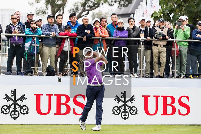 Terry Pilkadaris of Australia tees off during the day three of UBS Hong Kong Open 2017 at the Hong Kong Golf Club on 25 November 2017, in Hong Kong, Hong Kong. Photo by Yu Chun Christopher Wong / Power Sport Images