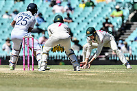 11th January 2021; Sydney Cricket Ground, Sydney, New South Wales, Australia; International Test Cricket, Third Test Day Five, Australia versus India; Marnus Labuschagne of Australia fields the ball
