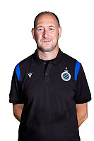 20th August 2020, Brugge, Belgium;  Kristoff Deryckere pictured during the team photo shoot of Club Brugge NXT prior the Proximus league football season 2020 - 2021 at the Belfius Base camp