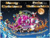 Eberle, Comics, CHRISTMAS SANTA, SNOWMAN, paintings, DTPC102,#X# Weihnachten, Navidad, illustrations, pinturas