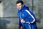 St Johnstone Training…….Jason Holt pictured during training at McDiarmid Park ahead of tomorrow's SPFL fixture against Livingston.<br />Picture by Graeme Hart.<br />Copyright Perthshire Picture Agency<br />Tel: 01738 623350  Mobile: 07990 594431