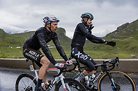 Oliver Naesen (BEL/AG2R Citroën) & Emanuel Buchmann (DEU/BORA - hansgrohe) up the Cormet de Roselend<br /> <br /> Stage 9 from Cluses to Tignes (144.9km)<br /> 108th Tour de France 2021 (2.UWT)<br /> <br /> ©kramon
