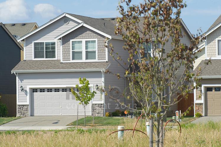 Grey Home in a Neighborhood