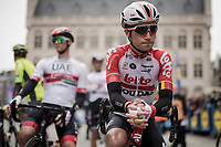 Bjorg Lambrecht (BEL/Lotto-Soudal) at the race start in Leuven<br /> <br /> 59th De Brabantse Pijl - La Flèche Brabançonne 2019 (1.HC)<br /> One day race from Leuven to Overijse (BEL/196km)<br /> <br /> ©kramon