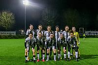 Team Charleroi ( forward Estelle Dessilly (13) , defender Noemie Fourdin (11) , defender Madison Hudson (8) , midfielder Yasaman Farmani (6) , midfielder Ludmila Matavkova (9) , goalkeeper Ambre Collet (1) and forward Ylenia Carabott (7) , Renate Mehevets (15) , defender Chrystal Lermusiaux (2) , midfielder Megane Vos (20) , midfielder Ines Dhaou (5) ) pictured during a female soccer game between Sporting Charleroi and KRC Genk Ladies on the 9th matchday of the 2020 - 2021 season of Belgian Scooore Womens Super League , friday 11 th of December 2020  in Marcinelle , Belgium . PHOTO SPORTPIX.BE | SPP | STIJN AUDOOREN