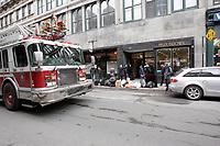 Une des propriétées de George Marciano ;  le 15, Notre-Dame Ouest, lieu de deux incendies criminels en février et mars 2012.<br /> <br /> Photo : Agence Quebec Presse.