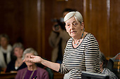 Candy Udwin, Public meeting called by Keep Our NHS Public to discuss action against the coalition government's NHS White Paper, Camden Town Hall, London.