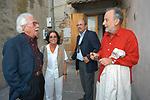 ALBERTO ASOR ROSA CON GABRIELLA E PAOLO FRANCHI E PIERLUIGI PIGI BATTISTA<br /> PREMIO LETTERARIO CAPALBIO 2004