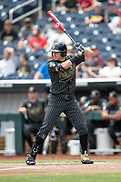 Vanderbilt Commodores outfielder JJ Bleday (51) at bat during Game 8 of the NCAA College World Series against the Mississippi State Bulldogs on June 19, 2019 at TD Ameritrade Park in Omaha, Nebraska. Vanderbilt defeated Mississippi State 6-3. (Andrew Woolley/Four Seam Images)