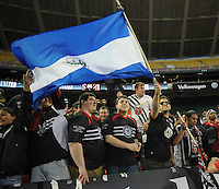 Fan from el Salvador supporting DC United . The Chicago Fire defeated DC United 2-0 at RFK Stadium, Saturday April 17, 2010.