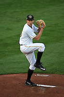 Bradenton Marauders pitcher Steven Brault (35) delivers a pitch during a game against the Jupiter Hammerheads on April 17, 2015 at McKechnie Field in Bradenton, Florida.  Bradenton defeated Jupiter 11-6.  (Mike Janes/Four Seam Images)