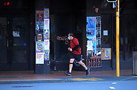 Taranaki Street, Wellington CBD, at 7.30am during Level 4 lockdown for the COVID-19 pandemic in Wellington, New Zealand on Wednesday, 25 August 2021.