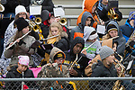October 28, 2017- Tuscola, IL- The TCHS Pep Band performs during first round 1A IHSA Playoff action with the Chester Yellow Jackets. The Warriors rolled to an easy win 56-0. [Photo: Douglas Cottle]