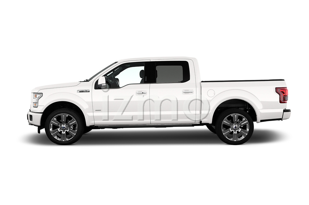 Car Driver side profile view of a 2017 Ford F-150 Limited-SuperCrew 4 Door Pickup Side View