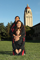 STANFORD, CA - OCTOBER 28:  Gayle Lee, Debbie Chen, and Taylor Durand during picture day on October 28, 2009 in Stanford, California.