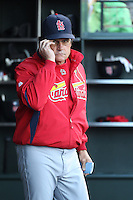 SAN FRANCISCO - APRIL 24:  Manager Tony La Russa #10 of the St. Louis Cardinals walks in the dugout during the game against the San Francisco Giants at AT&T Park on April 24, 2010 in San Francisco, California. Photo by Brad Mangin