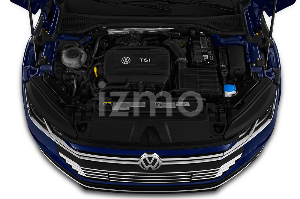 Car stock 2019 Volkswagen Arteon SEL 5 Door Hatchback engine high angle detail view