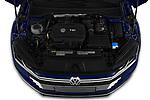 Car stock 2019 Volkswagen Arteon SEL 5 Door Hatchback engine high angle detail view