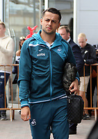 Lukasz Fabianski of Swansea City arrives prior to the game during the Premier League match between Southampton and Swansea City at the St Mary's Stadium, Southampton, England, UK. Saturday 12 August 2017