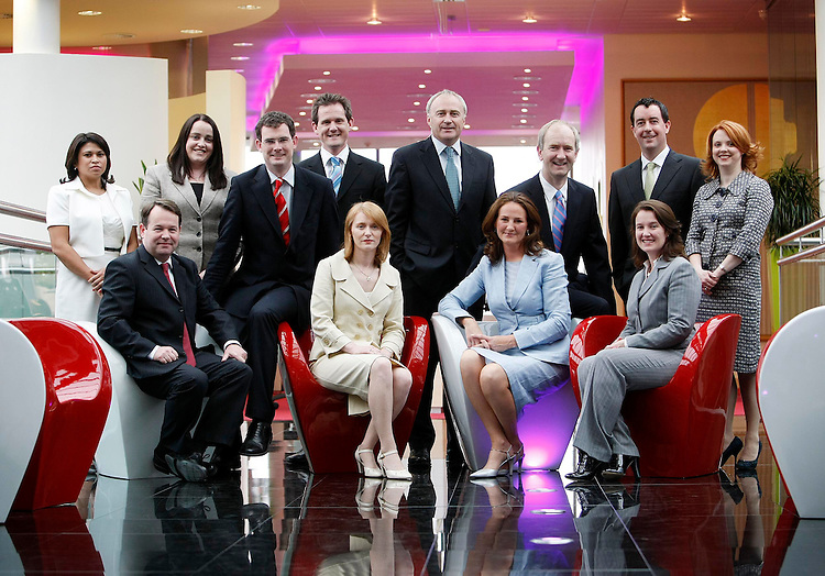 PricewaterhouseCoopers, Ireland's leading professional services Firm is delighted to announce the admission of eleven new partners. Pictured here with Ronan Murphy, PwC's Senior Partner (Back centre) are the Firm's new Partners, included are from (l to r): Alisa Hayden (Consumer & Industrial Products and Services), Tom Corbett (VAT),  Emma Scott (Banking), Ronan MacNioclais (Corporate Tax), Brian Bergin (Transaction Services), Irene O'Keeffe (Technology & InfoComms), Dervla McCormack (Strategy), Garrett Cronin (Corporate Performance Improvement), Gavin Ryle (Transfer Pricing), Patricia Johnston (Investment Management) and Andrea Kelly (Investment Management). Pic. Robbie Reynolds.