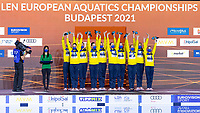 Gold Medal<br /> UKRAINE<br /> ALEKSIIVAMaryna/ALEKSIIVAVladyslava<br /> FIEDINAMarta/HRYSHKOVeronika<br /> NOSOVAAnna/REZNIKKateryna<br /> SAVCHUKAnastasiya/SHYNKARENKOAlina<br /> SYDORENKOKseniya/YAKHNOYelyzaveta<br /> Highlights Final<br /> Artistic Swimming<br /> Budapest  - Hungary  15/5/2021<br /> Duna Arena<br /> XXXV LEN European Aquatic Championships<br /> Photo Pasquale Mesiano / Deepbluemedia / Insidefoto