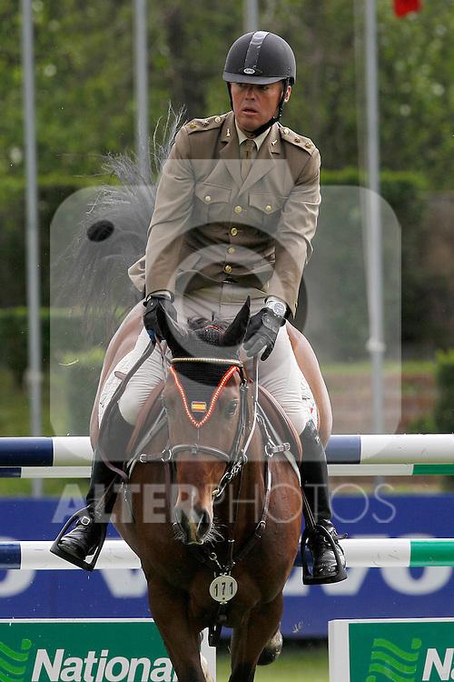 Spanish jockey Luis Fernandez Gil Fourner and Dobres de Ibio horse during 102 International Jumping Championship Grand Prix of Madrid- Zaldi Trophy, in the Club de Campo Villa de Madrid 2012/May/20..(ALTERPHOTOS/ARNEDO)