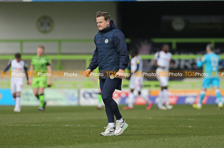 Forest Green Rovers's manager Mark Cooper during Forest Green Rovers vs Bolton Wanderers, Sky Bet EFL League 2 Football at The New Lawn on 27th March 2021