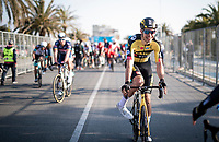 A joyous Wout van Aert (BEL/Jumbo-Visma) after winning stage 1 from Lido di Camaiore to Lido di Camaiore (156km)<br /> <br /> 56th Tirreno-Adriatico 2021 (2.UWT) <br /> <br /> ©kramon