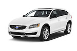 2015 Volvo V60 Summum 5 Door Wagon angular front stock photos of front three quarter view