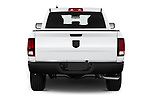 Straight rear view of 2021 Ram 1500-Classic Warlock 4 Door Pick-up Rear View  stock images