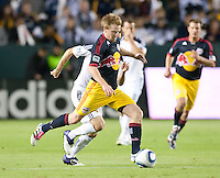 CARSON, CA - November 3, 2011: NY Red Bulls midfielder Dax McCarty (11) during the match between LA Galaxy and NY Red Bulls at the Home Depot Center in Carson, California. Final score LA Galaxy 2, NY Red Bulls 1.