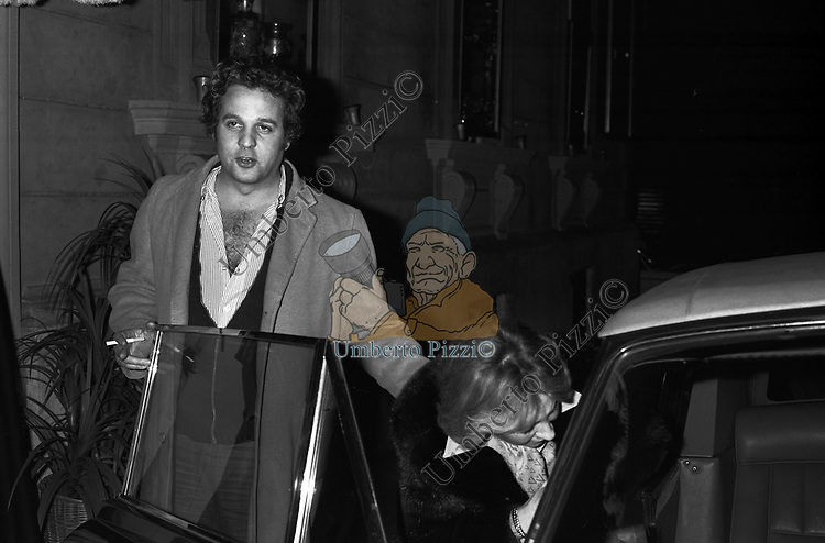 RENATO POZZETTO CON LA MOGLIE SERATA JACKIE O' ROMA  1977