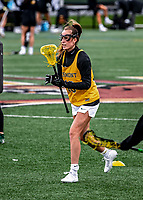 17 April 2021: University of Vermont Catamount Midfielder Jen Williams, a Junior from St. Louis, MO, warms up prior to facing the UMBC Retrievers at Virtue Field in Burlington, Vermont. The Lady Cats fell to the Retrievers 11-8 in the America East Women's Lacrosse matchup. Mandatory Credit: Ed Wolfstein Photo *** RAW (NEF) Image File Available ***